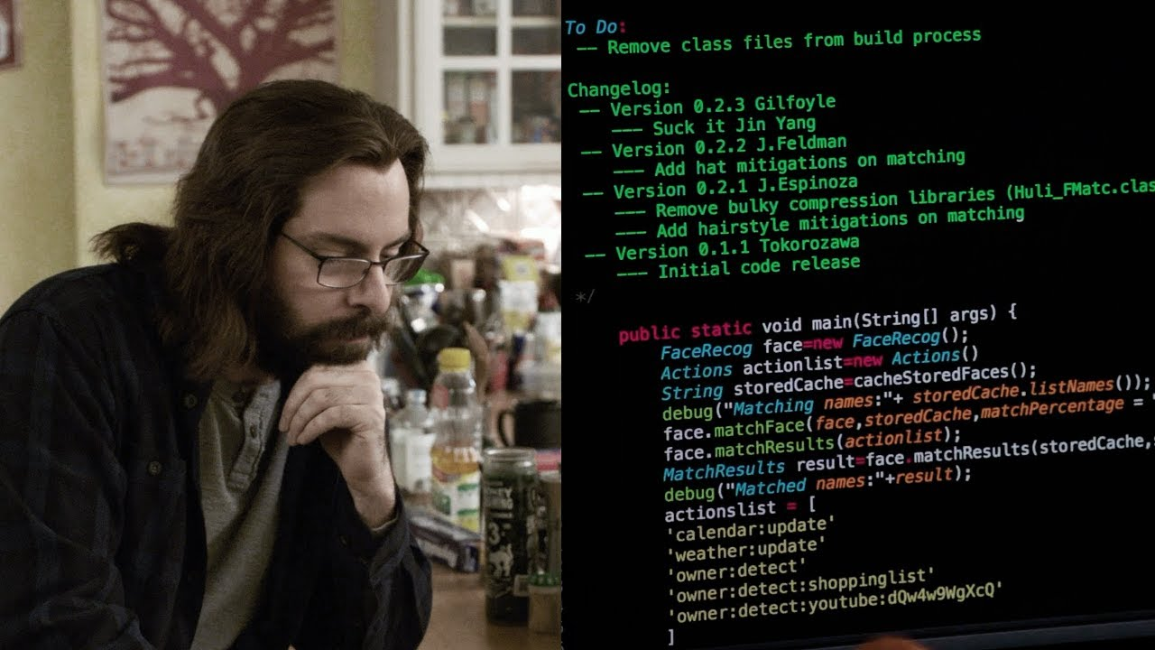 Image result for Gilfoyle Hacks Jian Yang's Smart Fridge  Silicon Valley