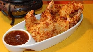 Coconut Shrimp & Apricot Dipping Sauce