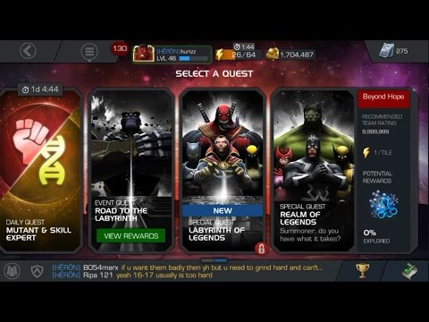 BEYOND HOPE QUEST (REALM OF LEGENDS), 1 NODE DOWN - Marvel Contest Of Champions