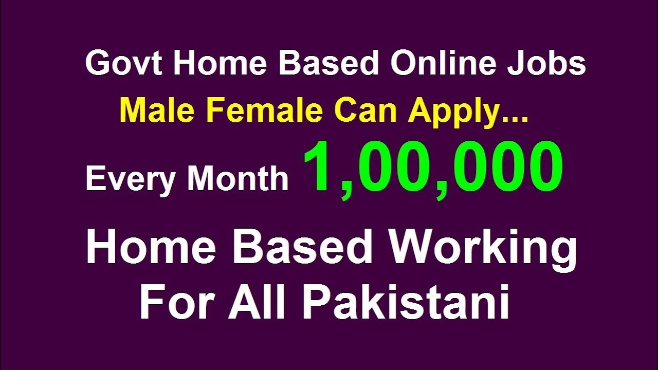 Home Base Jobs E Rozgaar Program Online Job In Pakistan Part 2 Say Job City Youtube