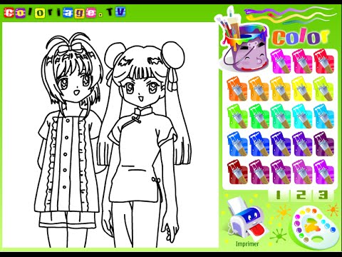 Manga Coloring Pages for Kids Manga Coloring Pages YouTube