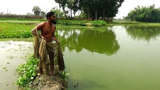 Net Fishing | Catching Fish By Cast Net | Fishing with beautiful nature (Part-48)