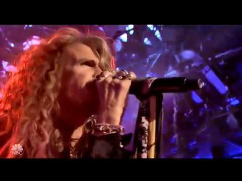 Aerosmith Mama Kin on Tonight Show