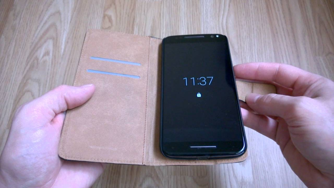 best loved d64dc 1a98d Moto X Style (Pure Edition) Leather Flip Wallet Case Review