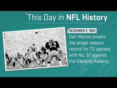 Dan Marino Sets the Single-Season TD Pass Record | This Day in NFL History (12/2/84)