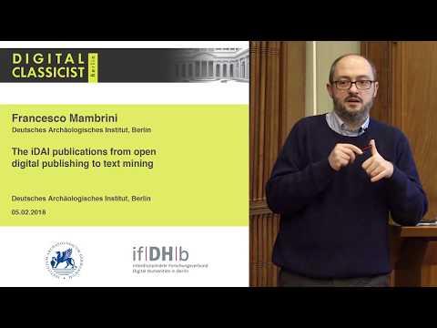 Digital Classicist Seminar Berlin (2017/2018) - Seminar 8