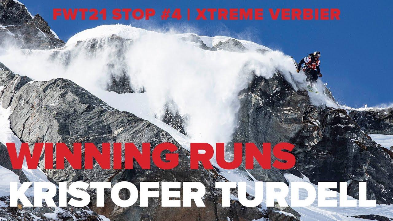 Freeride World Tour 2021.Verbier Xtreme Winning Runs