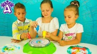 Машина для рисования в стиле Поп Арт Видео Новые игры Для детей Spinning ART machine Kids toys