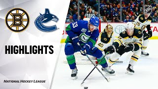 NHL Highlights | Bruins @ Canucks 2/22/20