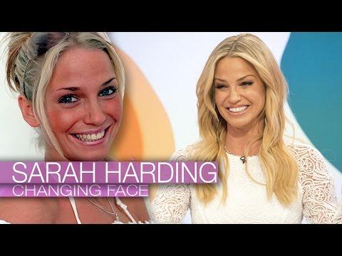 Sarah Harding's Changing face
