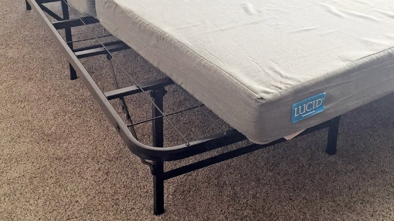 Zinus Smartbase Folding Mattress Foundation Review Youtube