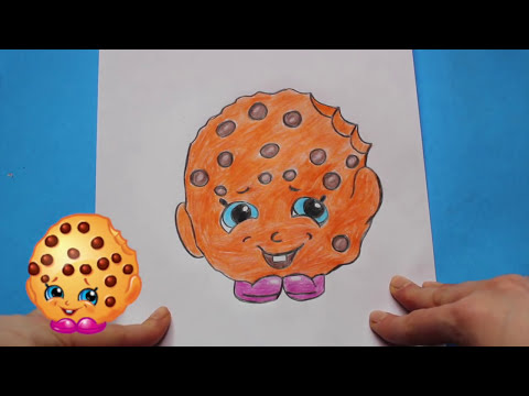 "Thumbnail: How to Draw Shopkins ""Kooky Cookie"" 