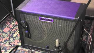 Panama Guitars Purple Heart 212 Speaker Cabinet with mix control guitar cab demo