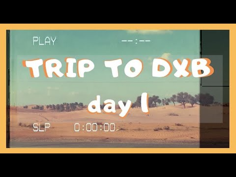 TRIP TO DUBAI – Day 1 (Dubai mall, Burj Khalifa, The Fountain Show)