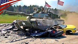 戦車に踏み潰される自動車 - M1エイブラムス, レオパルト2, チャレンジャー2