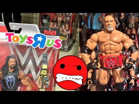 WWE ELITES TOYSRUS SHOPPING! TOY COLLECTION SHELF COLLAPSES RAGE!
