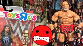 WWE ELITES TOYSRUS SHOPPING! TOY COLLECTION SHELF COLLAPSES RAGE!