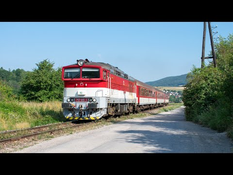 ZSSK 757 015 Runs With Local Train Trough Ráztočno!