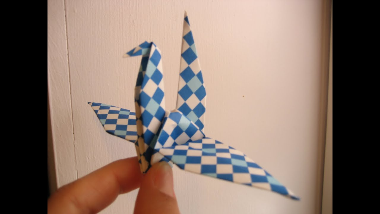 youtube how to make a paper crane