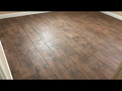 DIY BEDROOM makeover UPDATE! Home Decor I Wood Look Tile