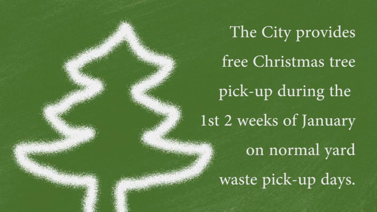 Free Christmas Tree Pick Up Part - 44: Christmas Tree Recycling PSA