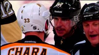Sidney Crosby vs Zdeno Chara Captain Stand Off - June 1 2013 HD Game 1