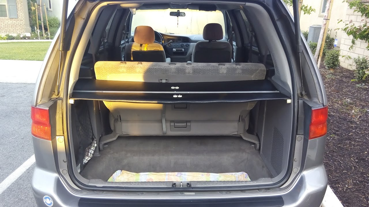 Subaru Forester Cargo Space >> How to Make Your Own Cargo Cover for 1999 Honda Odyssey - YouTube