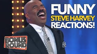 FUNNY Steve Harvey Family Feud Answer Reactions! Bonus Round