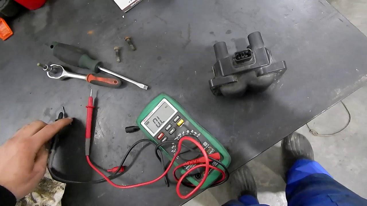 Как проверить катушку зажигания мультиметром || Лада 21110-3705010 (ВАЗ 2107/Нива)