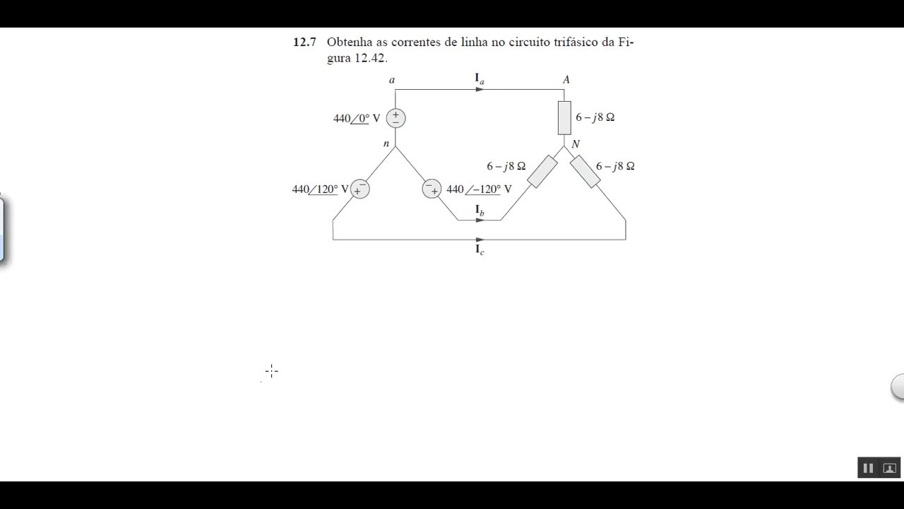 Circuito Eletricos : Circuitos elétricos problema sadiku ed sistema trifásico