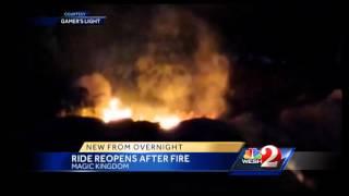 Fireworks blamed for blaze at Seven Dwarfs Mine Train