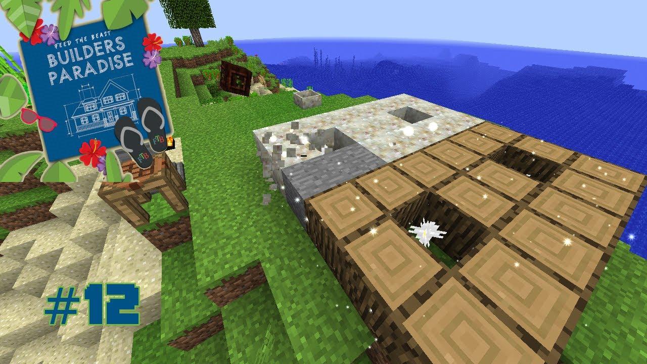 FTB Builders Paradise :: #12 :: Base Chiselin and Botania Flowerin ::  Modded Minecraft 1 12 2