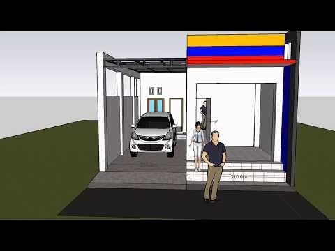 Desain Rumah Dan toko 2 lantai part 1