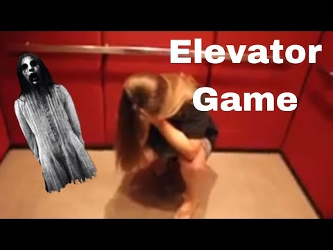 PLAYING THE ELEVATOR GAME! * WE SAW THE GIRL*