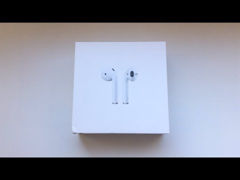 Распаковка Apple AirPods / Unboxing Apple AirPods  (2019)