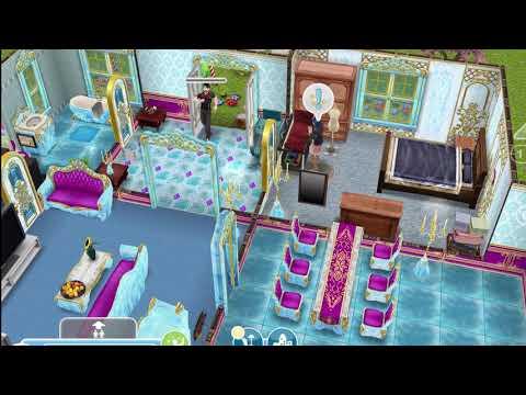 Sims FreePlay / как добавить соседа / 4 персонажа сидят в интернете / проверить почту /