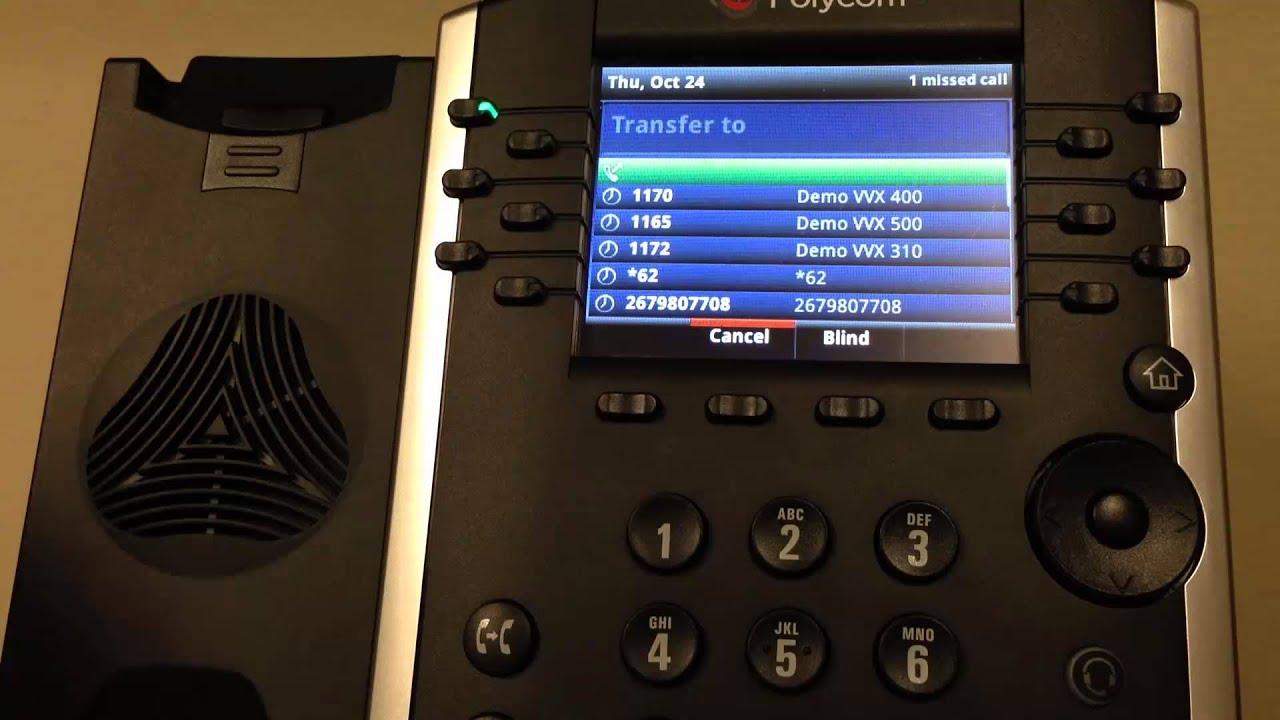Polycom VVX 400/401 Blind Transfer   Evolve IP Quick Tip - YouTube