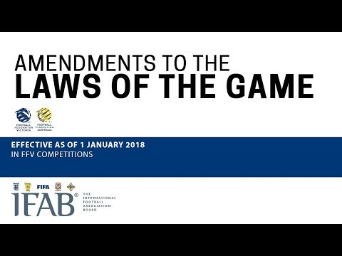 Laws of the Game Changes 2018