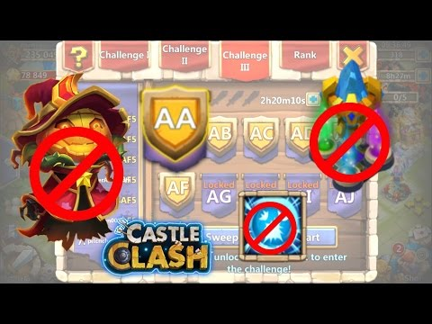 Castle Clash HBM AA_ Without Towers!_ No Pd And Scatter_Heroes Power!