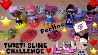 TWISTI SLIME LOL SURPRISE CHALLENGE PERLINE unboxing e storia By Lara e Babou