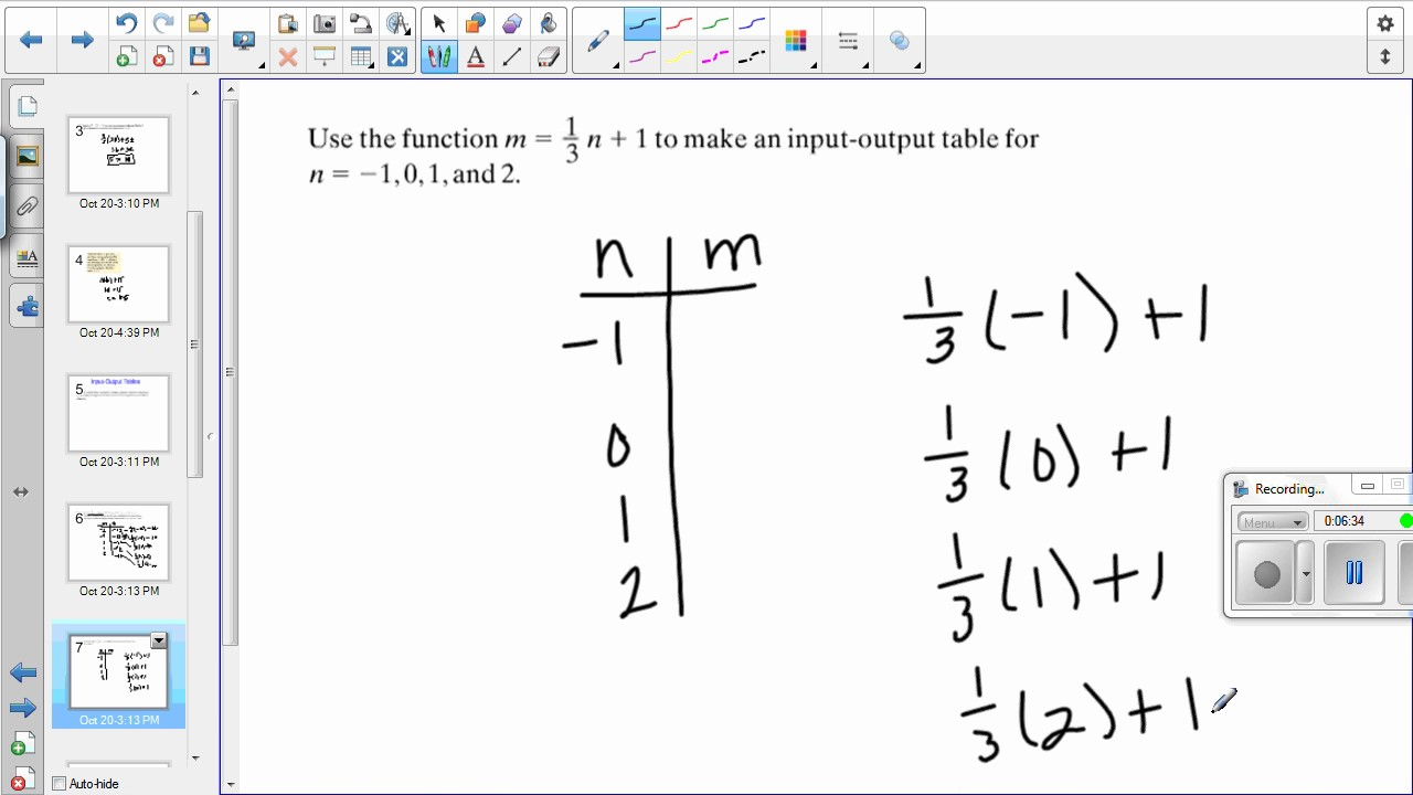 7th Grade (PRE ALGEBRA) Lesson 3-2 Functions