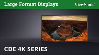 ViewSonic CDE 4K Series