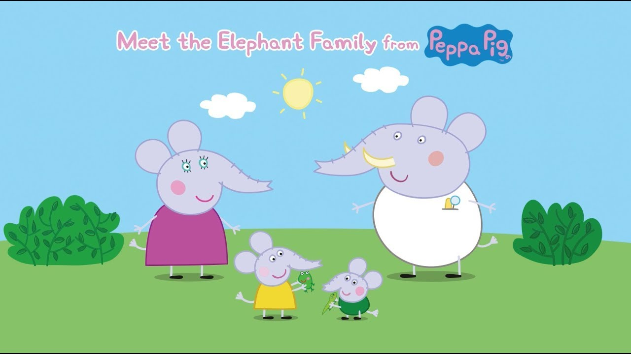 Peppa Pig Episodes - Meet the Elephant Family! - Cartoons for Children