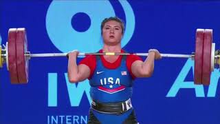 Women's 90 kg A Session Clean and Jerk - 2017 IWF Weightlifting World Championships (WWC)