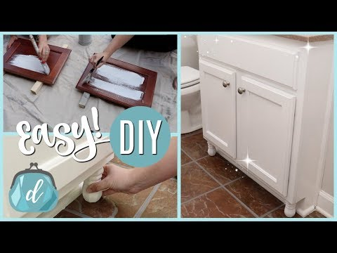 CHALK PAINT & CUSTOMIZE CABINETS ON A DIME! (fast how-to tutorial!)