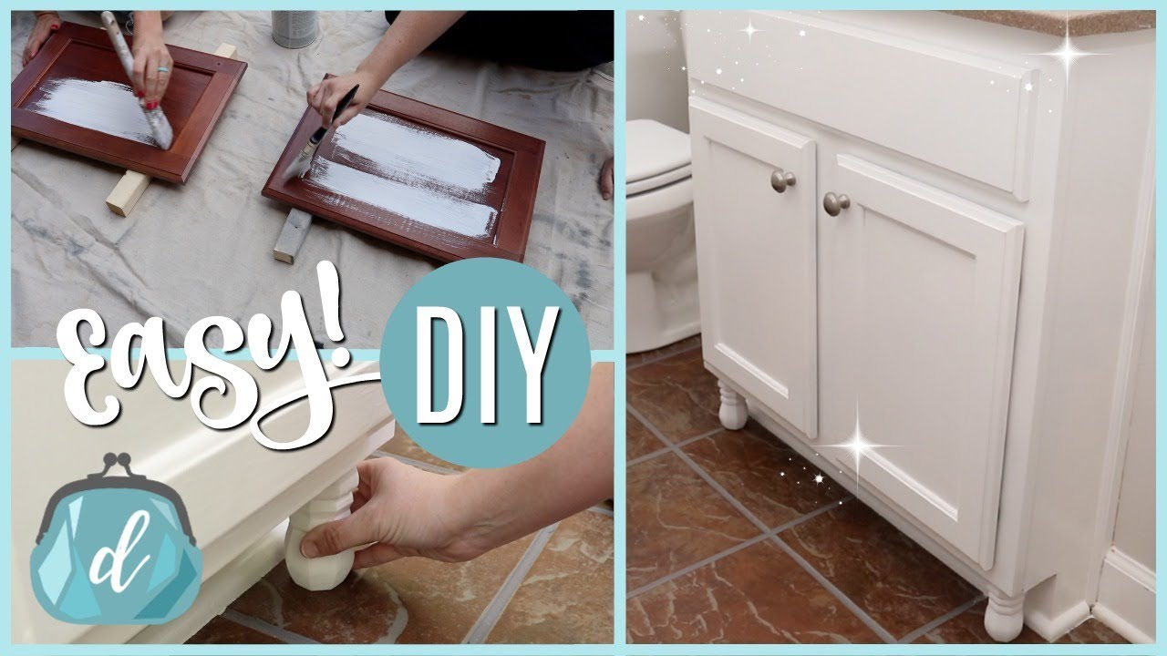 CHALK PAINT & CUSTOMIZE CABINETS ON A DIME! (fast how-to tutorial ...