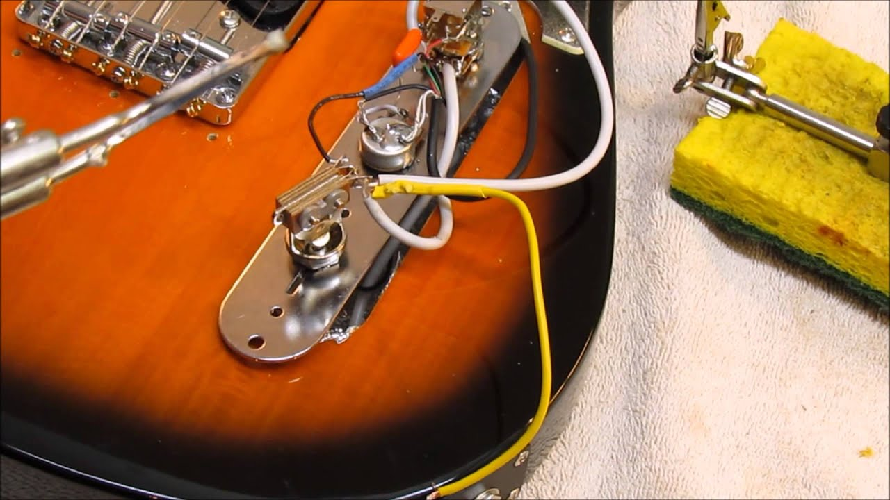 fender squire affinity telecaster upgrades kent armstrong pickup rh youtube com squier affinity strat wiring diagram Fender Telecaster 3-Way Wiring Diagram