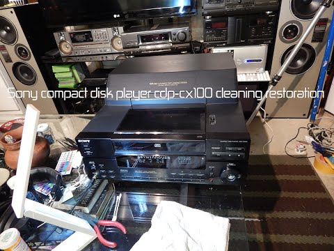 SONY CDP-CX100 100-disk cd player  cleaning restoration