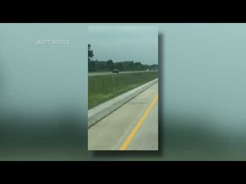 None - Guy drives the WRONG WAY on purpose on the interstate!