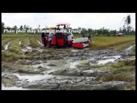 Máy gặt đập liên hợp Yanmar đời mới 2016 AW82v/AW70v